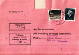 Nederland - Strafportkaart Alblasserdam - P1305 (410.00 - VII - '78) - 2408 - 809632F - Storia Postale