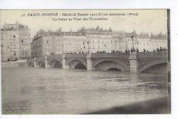 CPA Paris Inondé La Seine Au Pont Des Tournelles N° 30 Noyer - Inondations De 1910