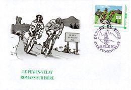 LE PUY EN VELAY (HTE LOIRE):CYCLISME Oblitération TOUR DE FRANCE 2017 DEPART Vers ROMANS SUR ISERE Env Ilu MTAM CONCORDA - Cycling