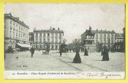 * Brussel - Bruxelles - Brussels * (L.L. Brux, Nr 29) Place Royale Godefroid De Bouillon, Tram, Vicinal, Animée, TOP - Brussel (Stad)