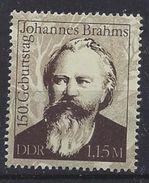 Germany (DDR) 1983  Johannes Brahms (**) MNH  Mi.2764 - [6] República Democrática