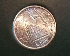 SAN MARINO - NUMISMATICA - Anno 1977 - 1.000 £ - Brunelleschi - Tiratura 141.885 CON ASTUCCIO - Saint-Marin