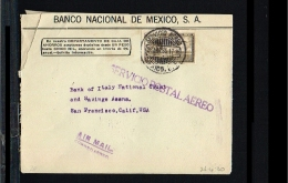 1930 - Mexico Cover - Transport - Airmail - From Mexico To San Francisco [B04_017] - Mexico