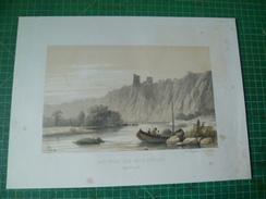 Ruines De Montfort Sur L'Ourte. Lithographie Originale De 19e Siècle - Prenten & Gravure