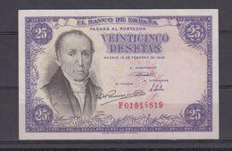 EDIFIL 450a. 25 PTAS 19 DE FEBRERO DE 1946. SERIE F.  CONSERVACIÓN S/C - [ 3] 1936-1975 : Regency Of Franco