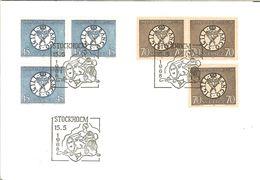 HB-P 306 SUÈDE 1968 Enveloppe Premier Jour 586 / 586b Et 587 / 587b - Départ à Moins D'1€ !!! - FDC