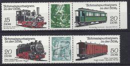 Germany (DDR) 1983  Schmalspurbahnen (**) MNH  Mi.2792-2795 - Unused Stamps