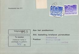 Nederland - Strafportkaart Alblasserdam - P1306 (1.100.00 - VI - '77) - 1963 - 707738F - Marcophilie