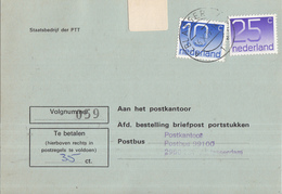 Nederland - Strafportkaart Alblasserdam - P1306 (1.100.00 - VI - '77) - 1963 - 707738F - Storia Postale