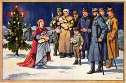 3 CPA Croix Rouge  Red Cross Christmas Tree Hospital  Prisonniers Malades 1916-1917 Suisse  Scweiz - Santé
