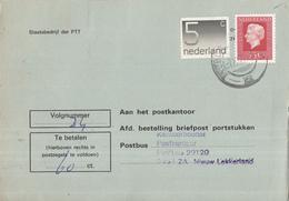 Nederland - Strafportkaart Nieuw Lekkerland - P1306 (1.100.00 - VI - '77) - 1963 - 707738F - Postal History