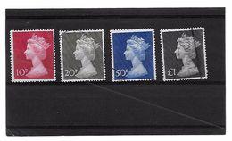 EDY 708 - GRAN BRETAGNA , Ritratto Elisabetta II Quattro Valori Usati . - 1952-.... (Elisabetta II)