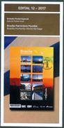 BRAZIL 2017 -  BRASILIA - BRAPEX 2017  -  ARCHITECTURE  - EDICT Nr 12 / 2017 - Covers & Documents
