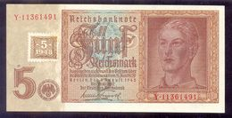 GERMANY - DEMOCRATIC REPUBLIC 5 Deutsche Mark 1948 P3  AUNC/UNC - [ 6] 1949-1990 : GDR - German Dem. Rep.