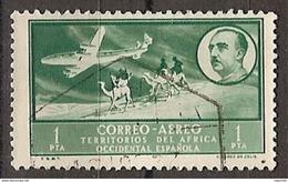 Africa Occidental U 22 (o) Paisaje Y Franco. Aereo. 1951 - Marruecos Español