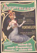Flyer Absinthiades à Pontarlier - Absinthe - Alcools