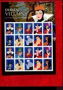 487167648 USA 2017 ** MNH SCOTT PANE 5213 - 5222 DISNEY VILLAINS PANE - Unused Stamps