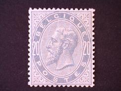 COB/OBP 39 - XX - 20c Gris-perle / Parelgrijs - (centrage Parfait !! / Perfecte Centrage !!) - 1883 Léopold II