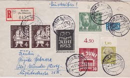 RFA 1954 LETTRE RECOMMANDEE DE BECKUM AVEC CACHET ARRIVEE - [7] République Fédérale