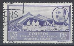 Africa Occidental U 15 (o) Paisaje Y Franco. 1950 - Marruecos Español