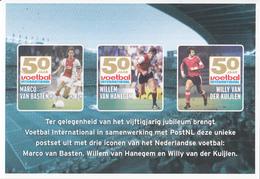 Nederland - Voetbal International 50 Jaar - Marco Van Basten - Willem Van Hanegem - Willy Van Der Kuijlen - Voetbal