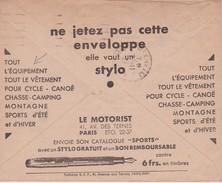 FRANCE 1937 LETTRE CCP DE STRASBOURG  THEME ECRITURE  STYLO CHASSE  CANOE..... - France