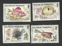 POLYNESIE   = 3  SERIES  DE  TIMBRES  POSTE  N° 18 à 21* + 30 à 34* + 42 à 44* - Collections, Lots & Séries