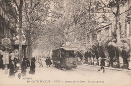 NICE Avenue De La Gare 471D - Transport Urbain - Auto, Autobus Et Tramway