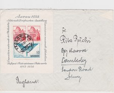 SUISSE 1939 LETTRE DE TÄGERWILEN AVEC BLOC AARAU 1938 - Schweiz