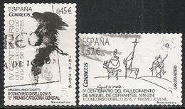 2016-ED. 5025 Y 5026 SERIE COMPLETA-Disello.Cervantes. Categoría General Y Juvenil- USADO- - 1931-Today: 2nd Rep - ... Juan Carlos I