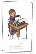La DACTYLOGRAPHE - LA DATTILOGRAFA - THE TYPIST - Illustrée Par A.BERTIGLIA  - MACHINE A ECRIRE  1917 - Other