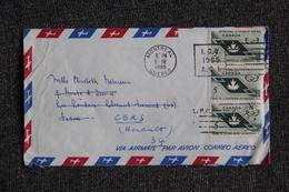 Lettre De MONTREAL à CERS ( FRANCE). - 1952-.... Règne D'Elizabeth II