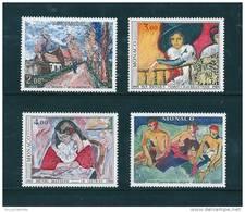 Monaco Timbres Neuf ** De 1980  Tableaux   N°1241 A 1244 - Nuovi