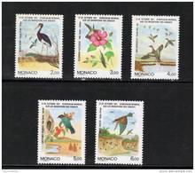 Monaco Timbres De 1991  Neufs**  N°1754 A 1758  Serie Complète - Unused Stamps