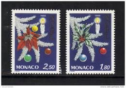 Monaco Timbres De 1986  Neufs** N°1554/55 Vendu A La Faciale - Neufs