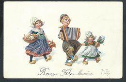 +++ CPA - Carte Fantaisie - Illustrateur ARTHUR THIELE - Enfants - Musique - Chien   // - Thiele, Arthur