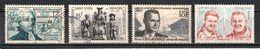 France 1955 à 1959 : Timbres Yvert & Tellier N° 1021 - 1063 - 1120 Et 1213 Avec Oblitération Ronde - France