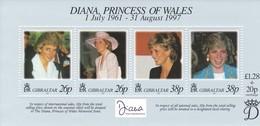 Gibraltar 1998 Diana, Princess Of Wales 1961 - 1997 ** - Gibraltar