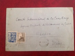Censura Gubernativa BARCELONA  Et Pour Croix-Rouge Genève Prisonniers De Guerre - Marcas De Censura Nacional