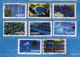Francia ° - 2007- Timbres Pour Vacances.  Yvert  4037 à 4046.- SANS 4041-4045    Oblitéré.   Vedi Descrizione. - Usados