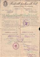 """RARO PERMESSO LASCIAPASSARE / DURCHLASS SCHEIN DEL 1944 - ROMA - IN ITALIANO E TEDESCO CON VARI TIMBRI """"UNICO!"""" - Historische Dokumente"""