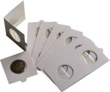 Paquet 25 Cartons Pour Pièces De Monnaies,cache Monnaie, étuis; Hartberger à Agrafer 27,5 Mm - Matériel