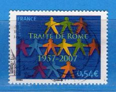 Francia ° - 2007- Traité De ROME.  Yvert  4030    Oblitéré.   Vedi Descrizione. - Gebraucht