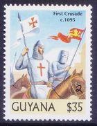 Guyana 2000 MNH, Millennium, 1095 Pope Urban II Proclaimes 1st Crusade, War - 1. Weltkrieg