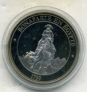 Medaille Comemo,napoléon Bonaparte...BONAPARTE EN EGYPTE  ,(très Bon état Les Trace Sont Dû A Mon Scann.) - Royal / Of Nobility