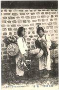 Carte Postale Ancienne De BASKET SELLER OF COREA - Korea, North