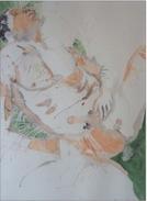 Daniel France (Guyana) - Dulci Jubilo  - Aquarelle Sur Papier - 1996 -  21 X 28  Cm  - Poids : 1100 Grammes Non Encadré - Watercolours