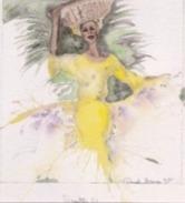 Daniel France (Guyana)  - Aquarelle Sur Papier, Sontaz U,  Format 24 X 30 Cm Avec Passe- Partout Rigide  - 1996 - Watercolours