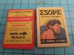 PUB615 Mini Livre Publicitaire Années 50/60 CAFE MARTIN MOKALUX MAISON DU CAFE CAIFFA / ESOPE Les Hommes Célèbres - Publicité