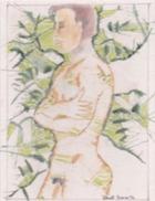 Daniel France (Guyana, Ex Guyane Britannique, Amérique Du Sud) - Aquarelle Sur Papier, Male Figure, 24 X 30 Cm - Watercolours